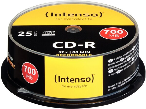 Intenso Rohling CD-R 80 Min. 700MB, 52x, Spindel 25er