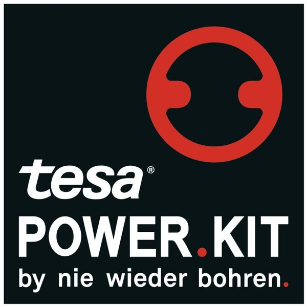 tesa WC-Papierrollenhalter POWER.KIT SMOOZ, hochglanzverchromt,