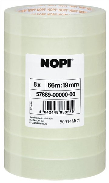 Nopi Transparent Klebefilm 66m x 19mm