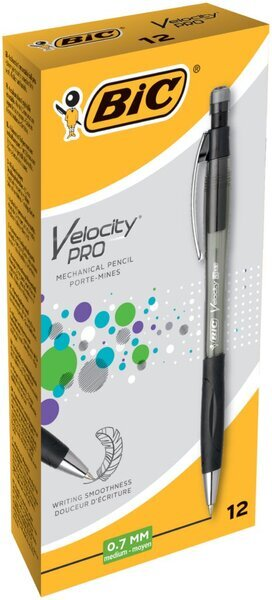 BIC Druckbleistift Velocity PRO PENCIL, transparent, 0,7 mm, HB