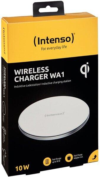 Intenso Wireless Charger WA1,weiß/Alu 10 Watt, Induktive Ladestation