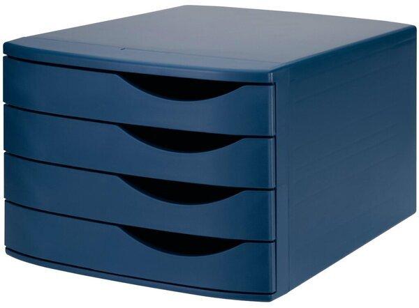 4 geschlossene Sch/übe grau Jalema 2686374307 Re-Solution Schubladenbox