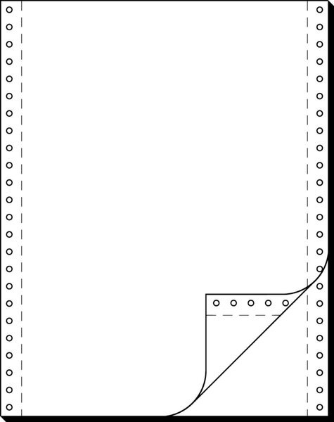 Sigel Endlospapier 12Zollx240mm A4 hoch 60/57g,sd, blanko, LP